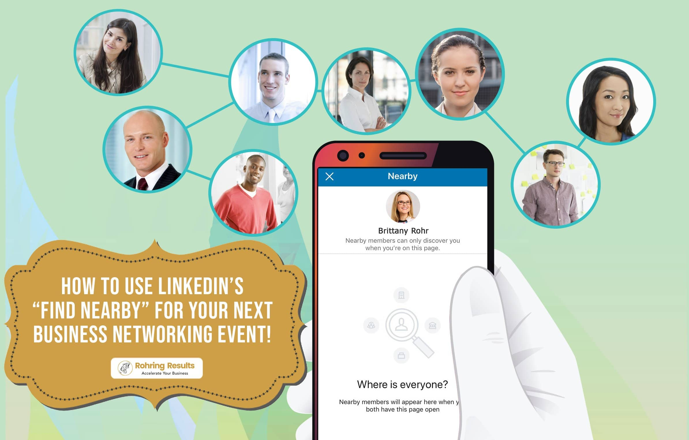 using linkedin for networking events