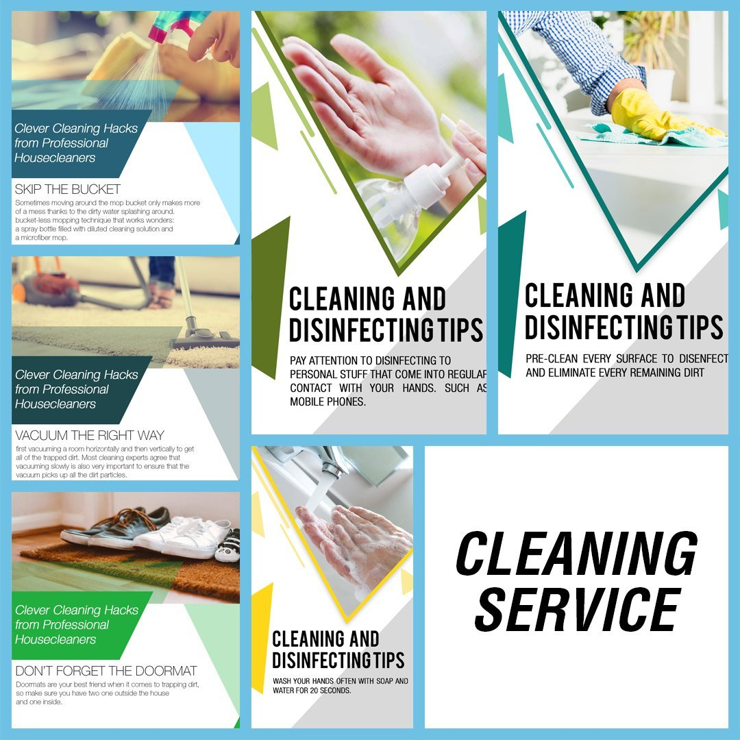 CLEANING SERVICE INSTAGRAM BLUE