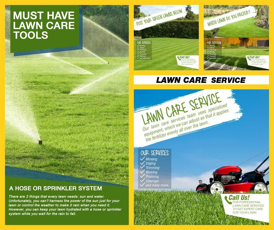 LAWN CARE FB YELLOW