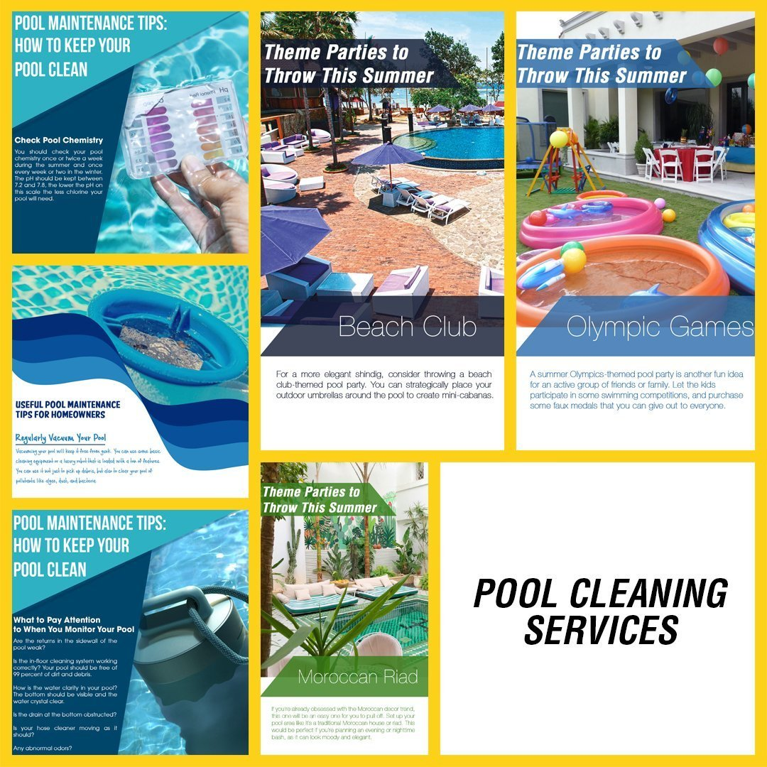 POOL SERVICES INSTAGRAM YELLOW