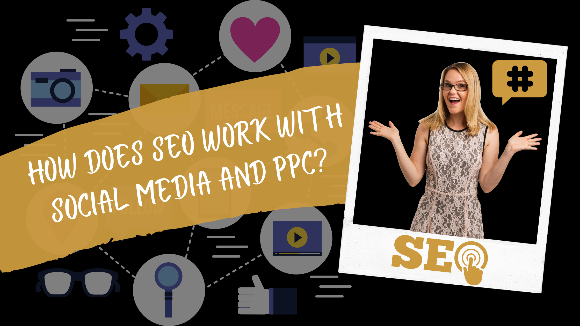 How does SEO work with social media and PPC_